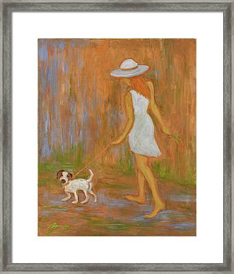 Indian Summer On The Path Framed Print