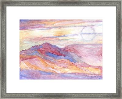 Indian Summer Sky Framed Print