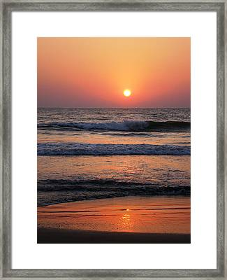 Indian Sunset Framed Print by Ilse Maria Gibson
