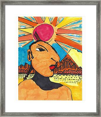 Framed Print featuring the drawing Indian Sunshine by Don Koester