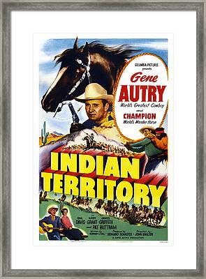 Indian Territory, Us Poster, Gene Autry Framed Print