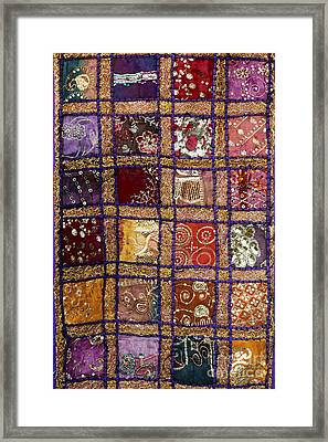 Indian Textile Wall Hanging Framed Print