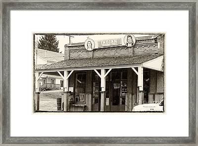 Indian Trading Post Virginia City Montana 02 Framed Print by Thomas Woolworth