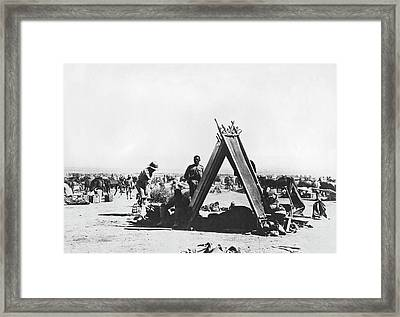 Indian Troops In Mesopotamia Framed Print by Underwood Archives