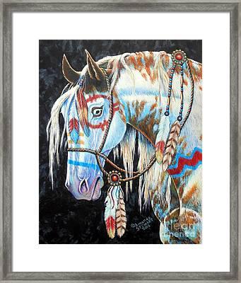 Indian War Pony #2 Framed Print by Amanda Hukill