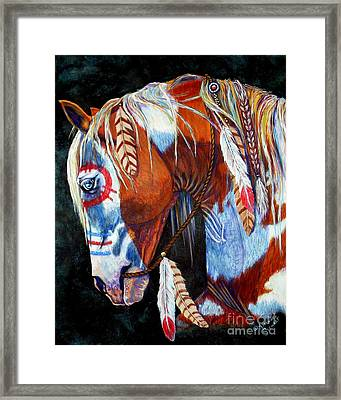 Indian War Pony Framed Print by Amanda Hukill