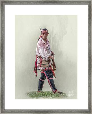 Indian Warrior Two Grand Encampment  Framed Print