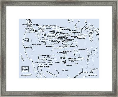 Indian Wars West Of The Mississippi Framed Print by Pg Reproductions
