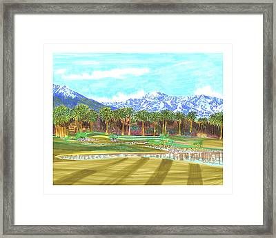 Indian Wells 18th Hole Framed Print by Jack Pumphrey
