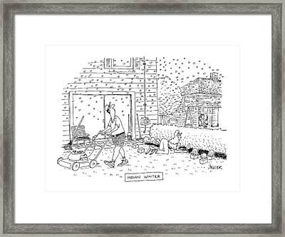 Indian Winter Framed Print