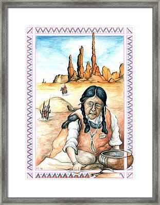 Indian Woman - Native American Art Framed Print