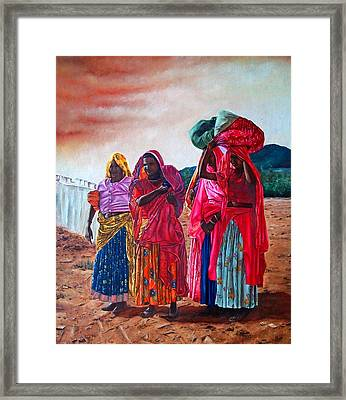 Indian Women Framed Print