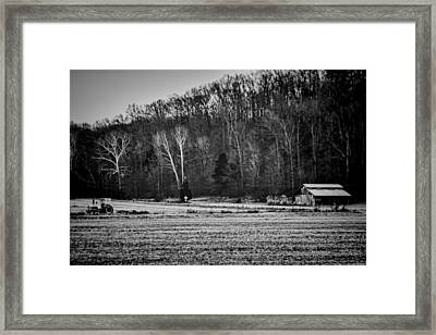 Indiana Farm Scene Framed Print