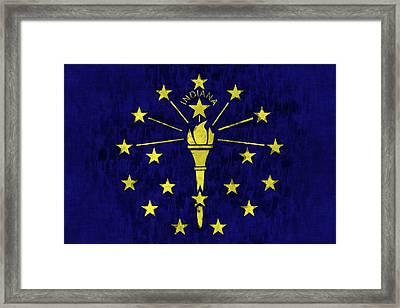 Indiana Flag Framed Print