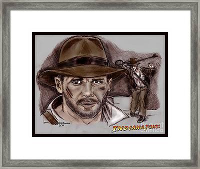 Indiana Jones Framed Print by Chris  DelVecchio