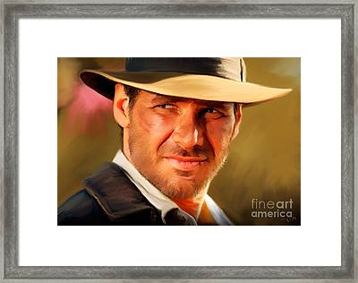 Indiana Jones Framed Print by Paul Tagliamonte