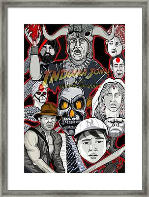 Indiana Jones Temple Of Doom Framed Print by Gary Niles