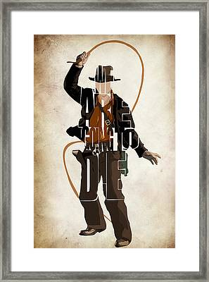 Indiana Jones Vol 2 - Harrison Ford Framed Print by Ayse Deniz
