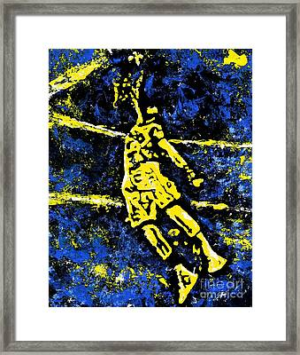 Indiana Pacers Framed Print by Alys Caviness-Gober