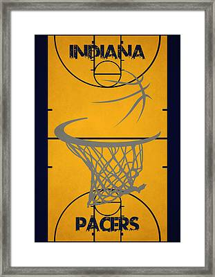 Indiana Pacers Court Framed Print