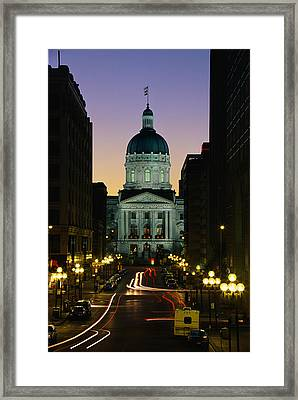 Indiana State Capitol Building Framed Print by Panoramic Images