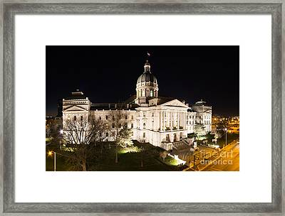 Indiana State Capitol Building Framed Print