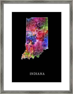Indiana State Framed Print