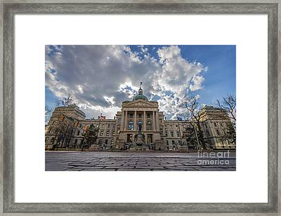 Indiana State House Low Framed Print by David Haskett