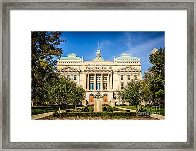 Indiana Statehouse State Capital Building Picture Framed Print
