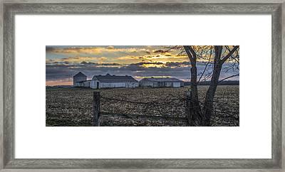 Indiana Sunrise Framed Print