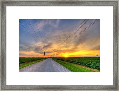 Indiana Sunset Framed Print