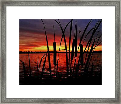 Indiana Sunset Framed Print by Benjamin Yeager