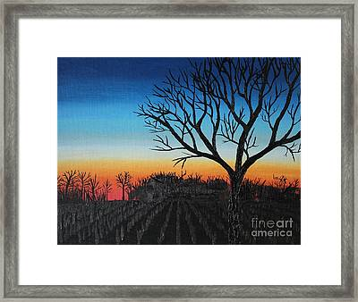 Indiana Sunset Framed Print