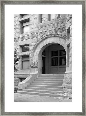 Indiana University Maxwell Hall Entrance Framed Print by University Icons
