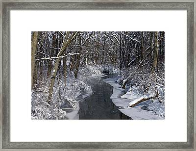 Indiana Winter Framed Print by Thomas Fouch