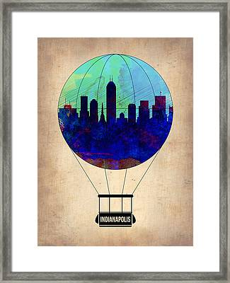 Indianapolis Air Balloon Framed Print by Naxart Studio