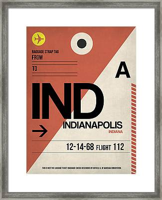 Indianapolis Airport Poster 1 Framed Print by Naxart Studio