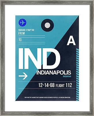 Indianapolis Airport Poster 2 Framed Print by Naxart Studio
