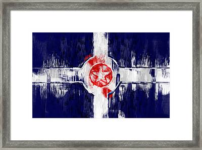 Indianapolis City Flag Abstract Framed Print