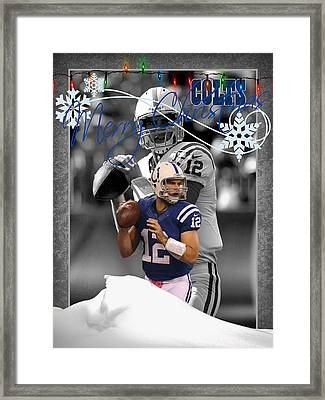 Indianapolis Colts Christmas Card Framed Print by Joe Hamilton