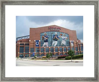 Indianapolis Colts Lucas Oil Stadium Framed Print