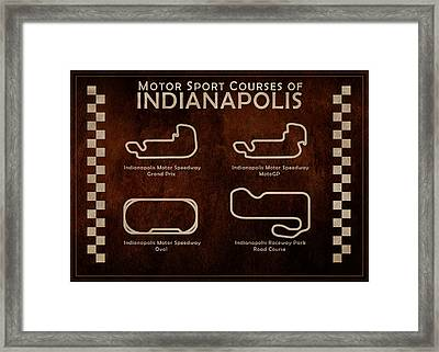 Indianapolis Courses Framed Print by Mark Rogan