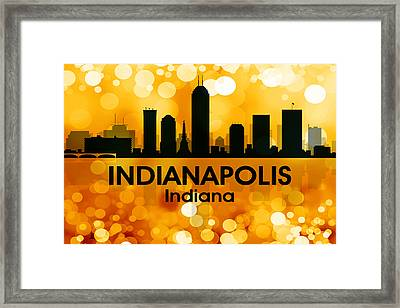 Indianapolis In 3 Framed Print by Angelina Vick