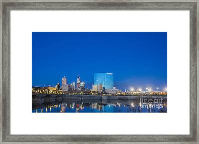 Indianapolis Indiana Blue Framed Print by David Haskett
