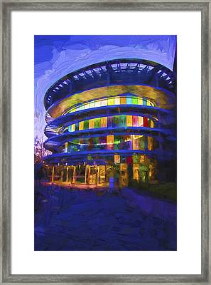 Indianapolis Indiana Museum Of Art Painted Digitally Framed Print by David Haskett