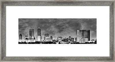 Indianapolis Indiana Skyline 0762 Framed Print by David Haskett