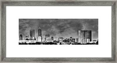 Indianapolis Indiana Skyline 0762 Framed Print