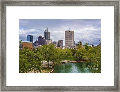 Indianapolis Indiana Skyline 1000 Framed Print by David Haskett