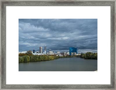 Indianapolis Indiana Skyline Fj Storm Framed Print