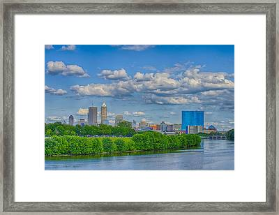 Indianapolis Indiana Skyline Hdr 9906 Framed Print by David Haskett